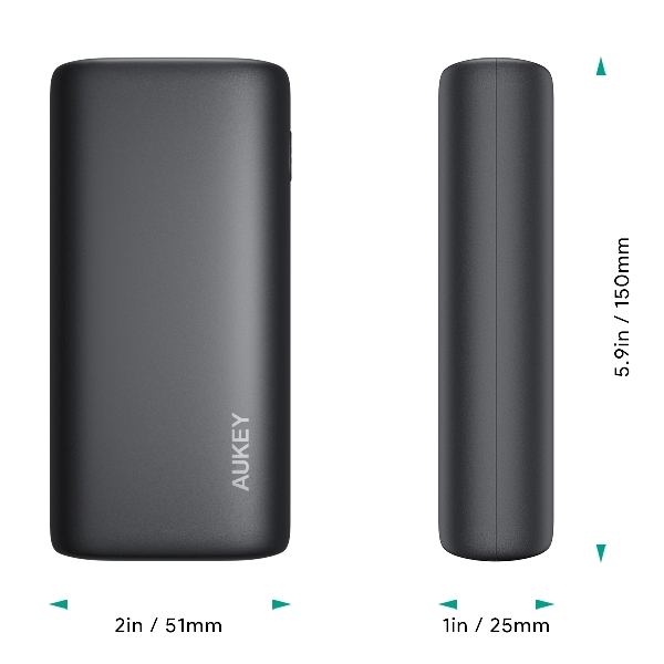 Pin sạc AUKEY PB-Y36 10.000mAh lõi pin Tesla, sạc nhanh 3.0 VÀ PD 18W (3)