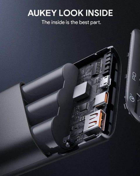 Pin sạc AUKEY PB-Y39 15.000mAh lõi pin Tesla, sạc nhanh 3.0 VÀ PD 18W(3)