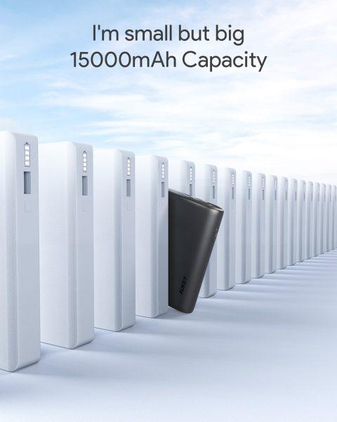 Pin sạc AUKEY PB-Y39 15.000mAh lõi pin Tesla, sạc nhanh 3.0 VÀ PD 18W(5)