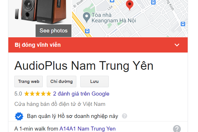 dong cua audioplus nam trung yen