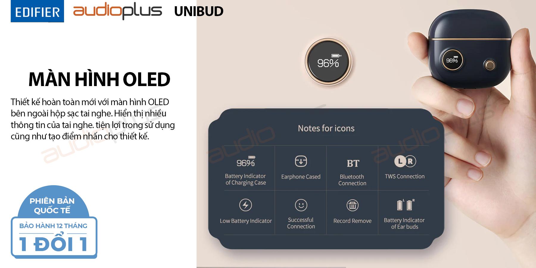 Edifier unibud màn hình oled thiết kế cổ điển
