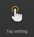 CONNECT tap setting